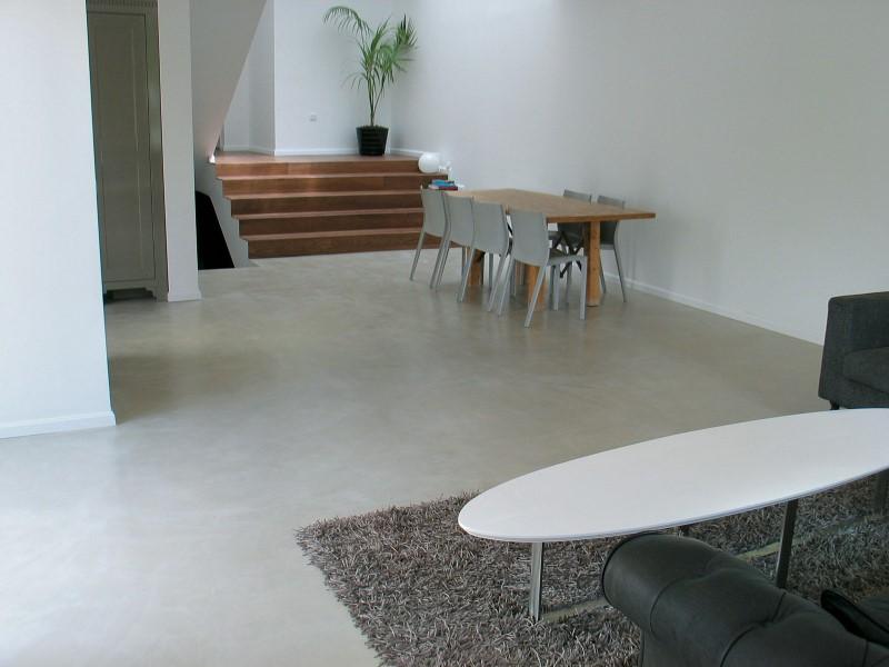 sol en beton ciré