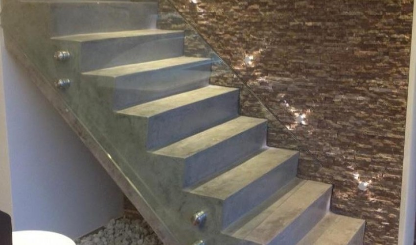 Escalier beton cir donne du charme a votre maison for Escalier en beton cire