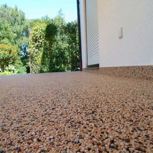 Terrase tapis de pierre